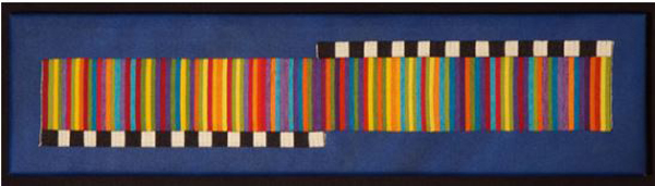 "Joyce Hayes ""Traumeri,"" 8' 13"" x 35.25"" tapestry. Photo by Cecil Hayes"