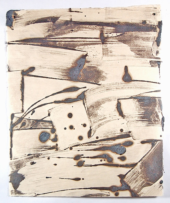 Roland_encaustic_4. Paula Roland, Fractal Field, encaustic monotype on kitakata paper