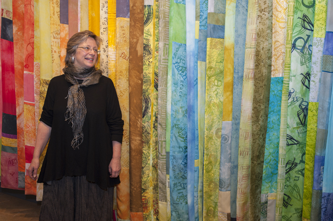 Gignoux WRAP wall of scarves 10