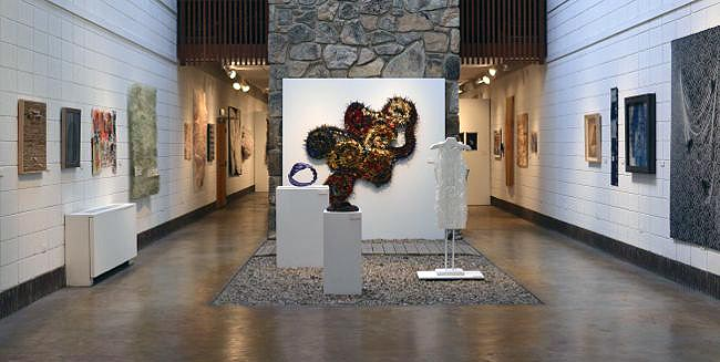 Materialities Install view rock wall