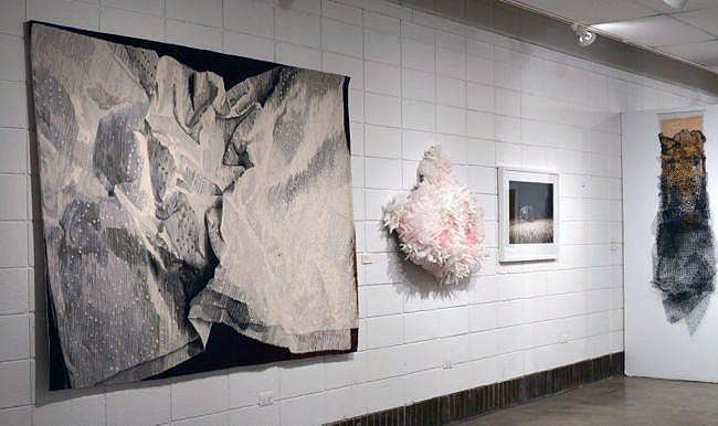 Materialities close shot of 4 works