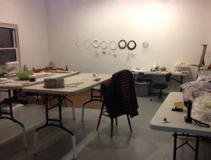 Lisa Klakulak's studio in the Fisher House at Hambidge Residency
