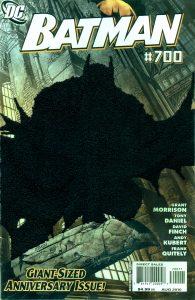 Mark Newport Batman 700, Embroidery on comic book cover
