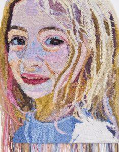 Jo Hamilton Orly (detail) Mixed crochet yarns (2016)