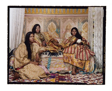 """Lalla Essaydi """"Harem Revisited #36"""" Chromogenic print mounted to aluminum with a UV protective laminate, dimensions variable, 2012. © Lalla Essaydi, New York / Courtesy Edwynn Houk Gallery, New York."""