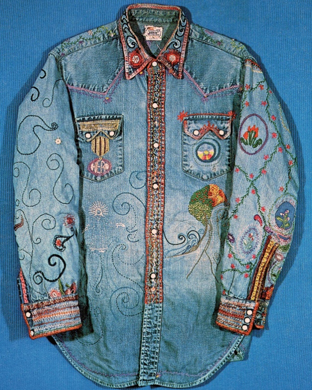 Hart embroidered jean shirt