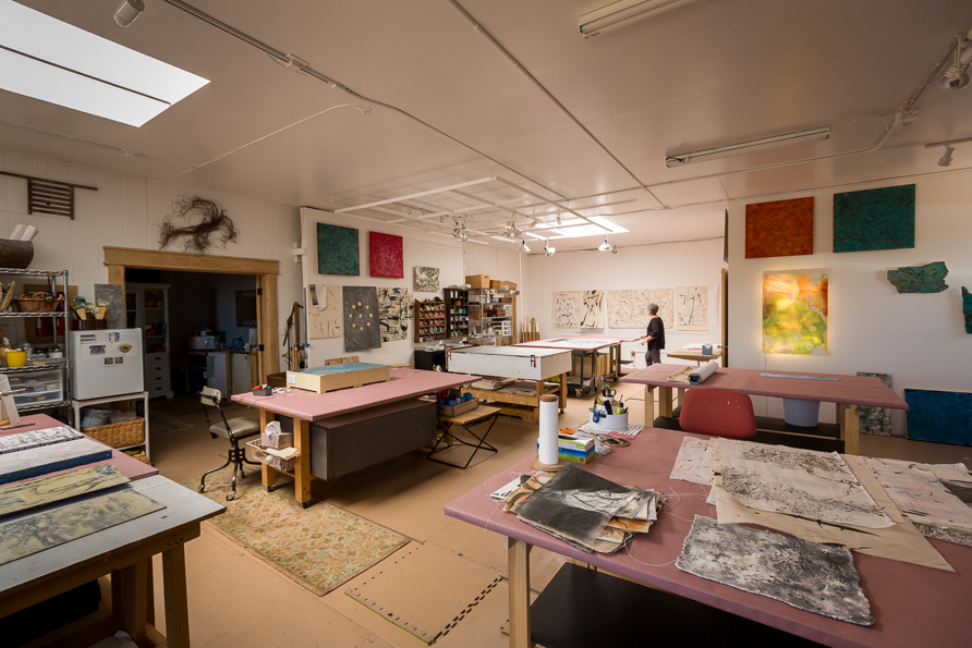 Roland_encaustic_11. View of Paula Roland's Santa Fe studio. Double Roland HOTbox, left.jpg.