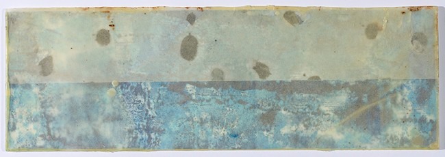 Roland_encaustic_5. Paula Roland, Ocean At My Feet, 2013-14. Three layered encaustic prints