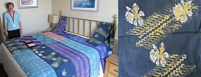 14. McDade_Encaustic_Cat Crotchett hotel room and batik detail_14