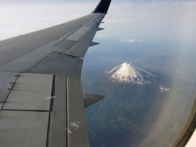 3. Mt Fuji seen from the plane. Photo Eileen Ekinaka