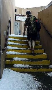 MCGill_SPIN 2014_Hailstorm aftermath IAIA Campus Santa Fe_4