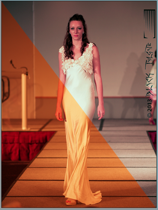 Wood Photography yellow gown fashion show 2013