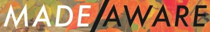 Made-Aware banner orange leaves