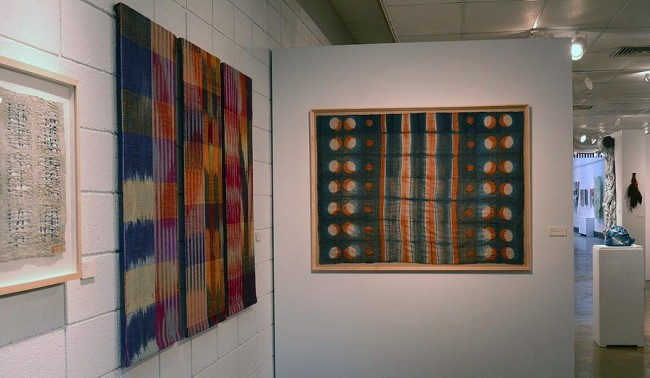 Materialities Installation ikat and dot