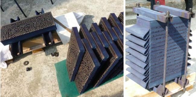Hedstrom itajime carved stacked blocks 15 16