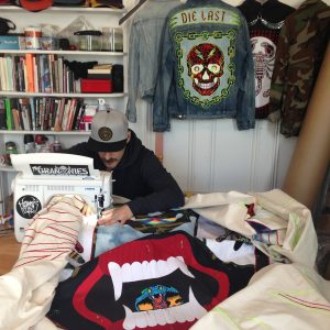 "Ben Venom in the studio working on ""Don't Tread On Me"""