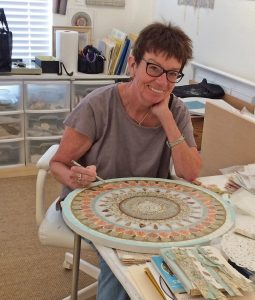 Meg Pierce At work on Mandala