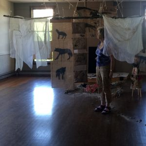 Mary McFerran Wolves, Brides, and Fairytales (2016) Studio setup