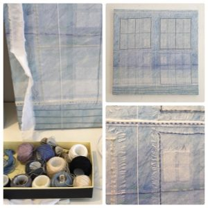 Meg Pierce Lido Mandala (2015) Vintage illustrations and papers, lace, acrylic on canvas