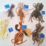 Natural Dye samples from a class at WildCraft Studio School in White Salmon, WA