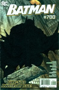 Mark Newport Batman 700, Embroidery on comic book cover