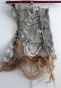 Mary McFerran Unwearable Thing 1 (2015) Crochet, lace, ink, embroidery, and assorted fabrics