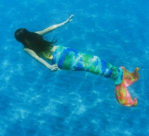 Olek Crocheted Mermaid in motion