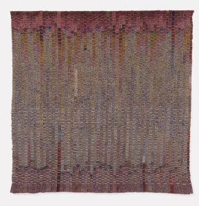 Olga de Amaral Paisaje de Calicanto 1981, linen, horsehair, wool, cotton, 300 x 290 cm. Fondation Toms Pauli, Lausanne. Photo: Fibbli-Aeppli, Grandson.