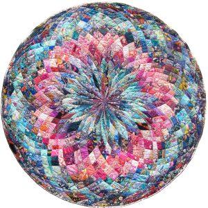 "Vanessa Michel Madrugada in Mourning (2014-15) hand-sewn quilt, 65""x64.5"""