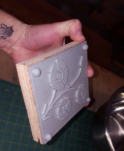 Image 7- Wooden backing glued on