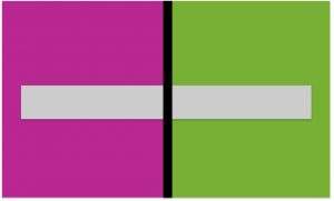 Figure 1 The Gray Bar Changes Color As It Crosses Red Violet And Yellow Green Fields Of Ears Pinker On Field More