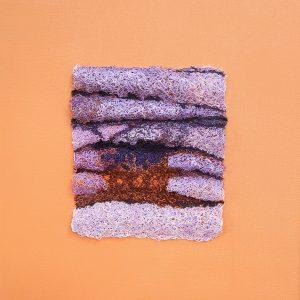 "George-Ann Bowers, ""Granite Abs,"" Machine stitching; polyester sewing thread 10"" x 10"" x 1,"" 2017, website: www.gabowers.com"