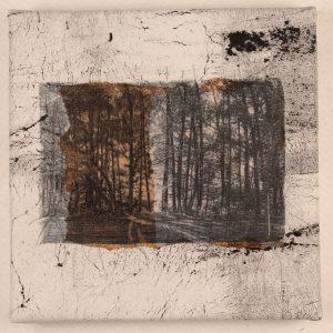 """PatDaRif, """"Memory of Trees,"""" Fiber, 10"""" x 10"""" x 1.5,"""" 2019"""