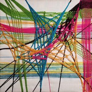 "Aridna Miramontes, ""Synaptic Plasticity, Mixed fibers, ""10"" x 10"" x 0,"" 2019"
