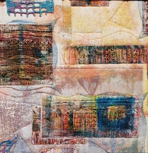 "Ileana Soto, ""Ancient Echoes,"" Fiber Art, 10"" x 10"" x 0,"" 2019, website: www.ileanasoto.com"