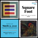 Square Foot Fiber Art Pin Up Show 2020